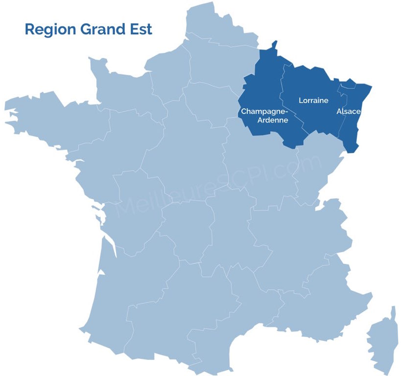 Region Grand Est Risikogebiet